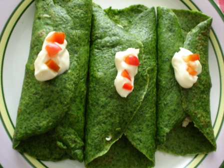 Crepes verdes light