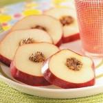 Canapé delicioso de manzana