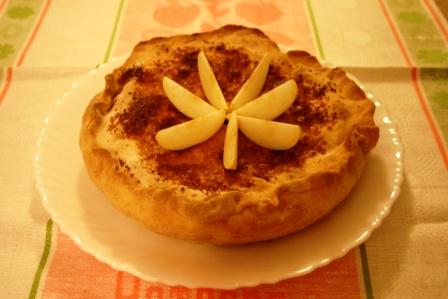 Tarta de manzana y canela light
