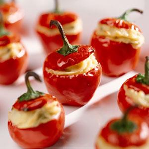 Aperitivo Gourmet: tomatitos cherry rellenos