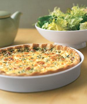 Quiche de queso roquefort Receta de como preparar tarta gourmet de queso azul.