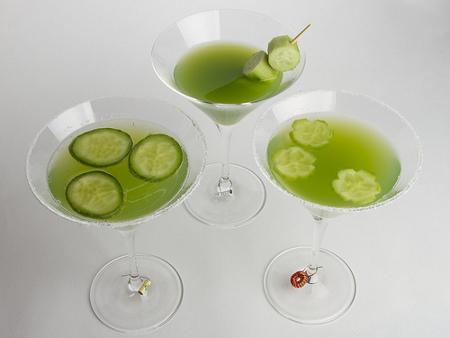 Delicioso martini de pepinos