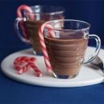 Chocolate caliente con menta
