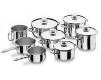 Batería de Cocina Lacor Serie Vitrocor 8 piezas