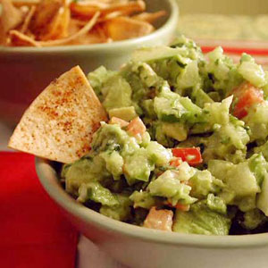 Guacamole with Chipotle Tortilla Chips Recipe