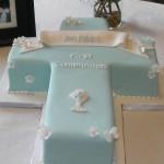 Como Hacer una Torta para un Bautizo, Torta en Forma de Cruz