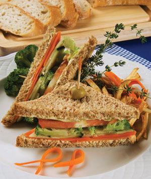 Sandwiches vegetarianos rápidos
